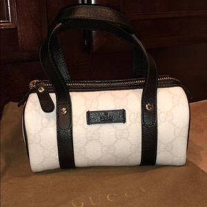 Gucci GG Coated Canvas White/Black Joy Boston Bag